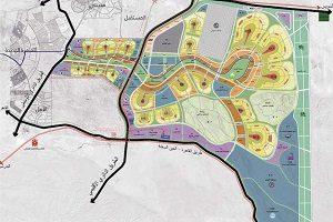 خريطة العاصمة الإدارية الجديدة دايمنشنز العقارية Dimensions Real